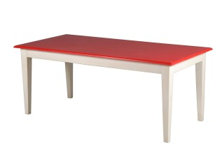 Fire Engine Red and White Dining Table 2