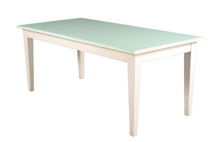 Ol Skool Chalky Green and White Dining Table 2