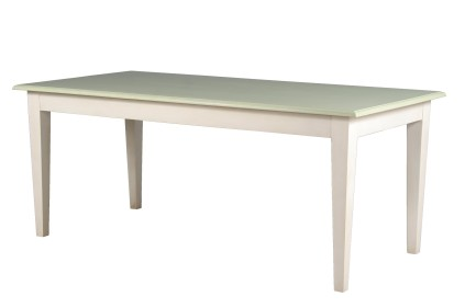 Sea Grass Green and White Dining Table 1