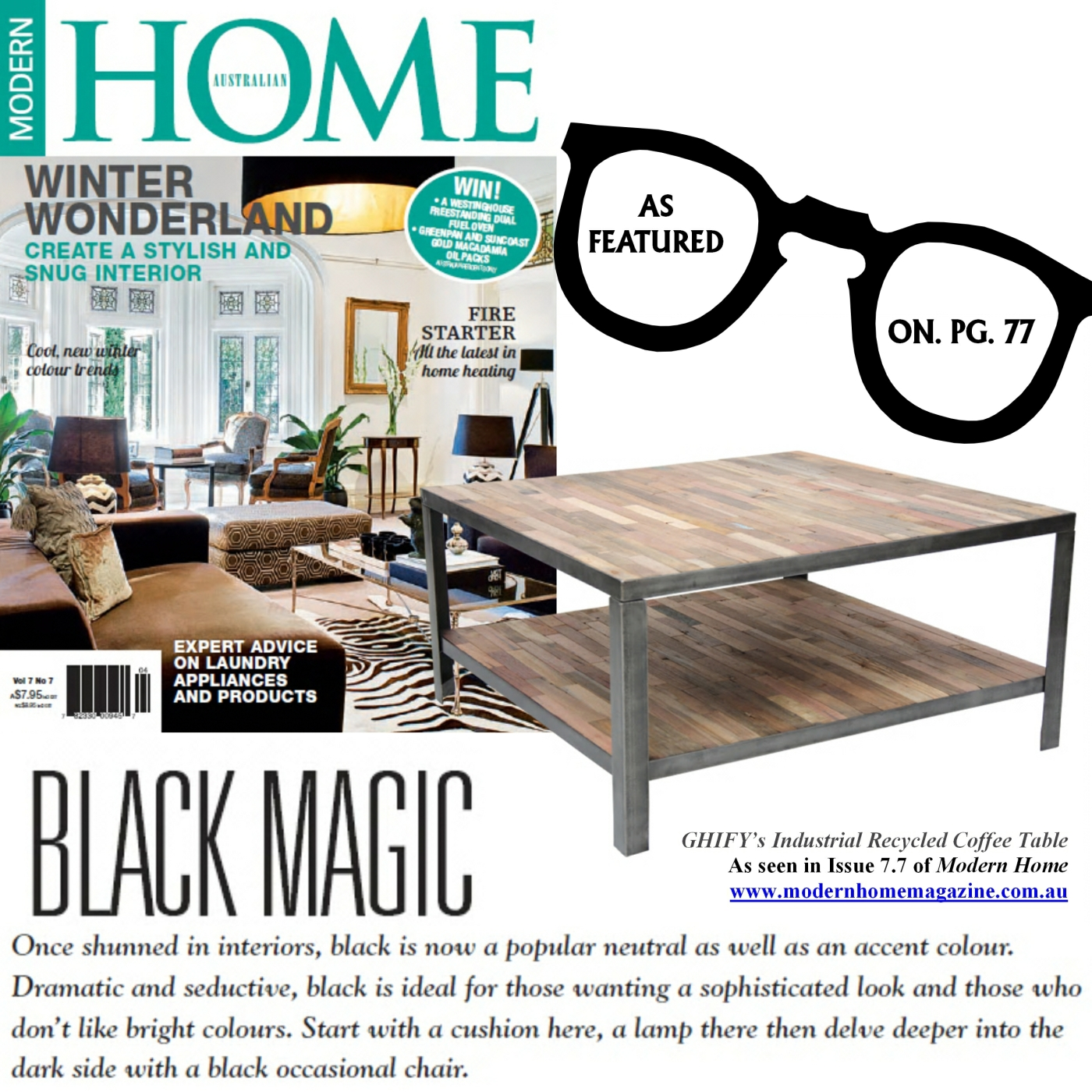 featured in modern home magazine issue 7.7 – the ghify blog