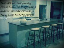 Ghify Industrial Recycled SoHo Inspired Bar Stools Customer Review
