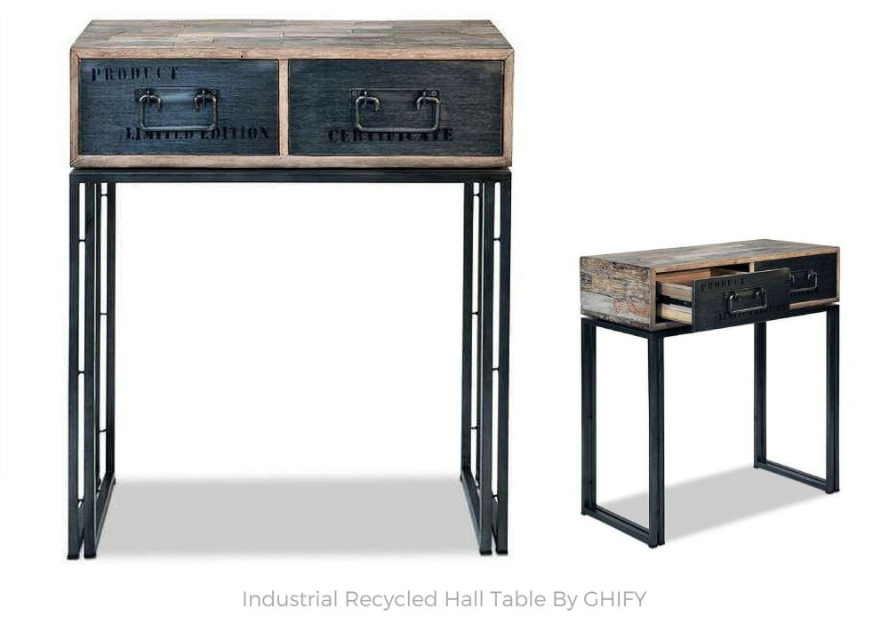 Industrial Recycled Hall Table by Ghify