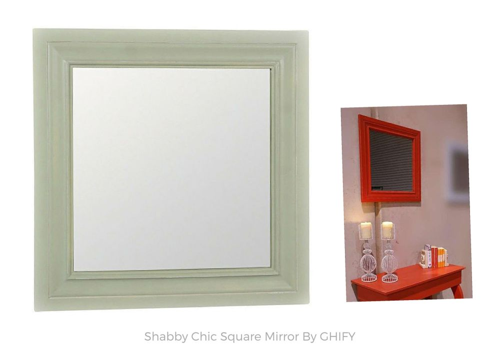 Shabby Chic Square Mirror by Ghify
