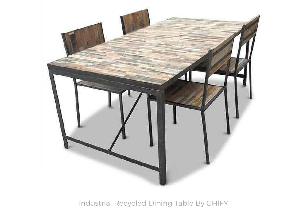 ndustrial Recycled Dining Table by Ghify