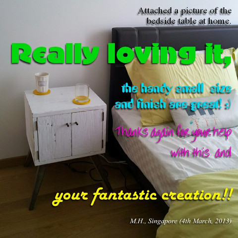 Once Upon A Queenslander Eco Recycled Bedside Table Testimonial (2)