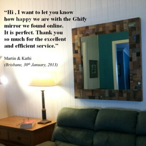 Recycled Large Square Mirror Testimonial