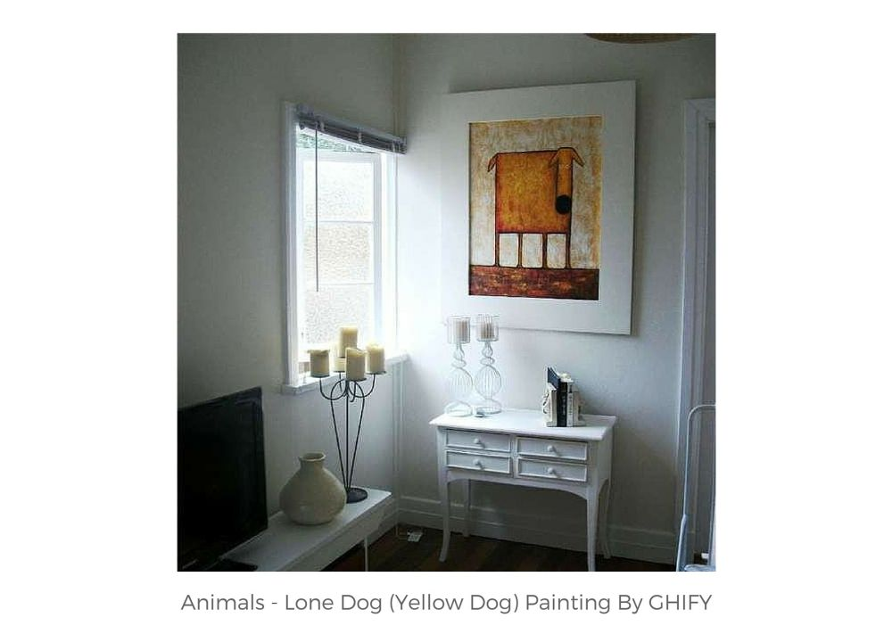 Yellow Dog Painting by Ghify