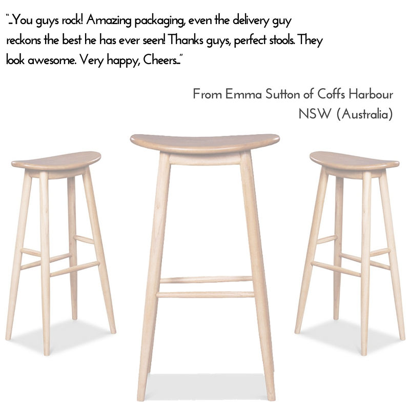 Modern Danish Bar Stool Testimonial