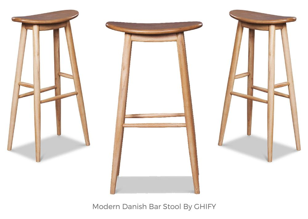 Modern Danish Bar Stool by Ghify