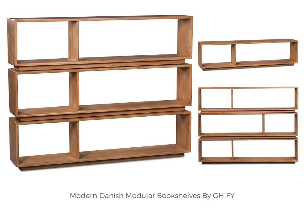 Modern Danish Modular Bookshelves by Ghify