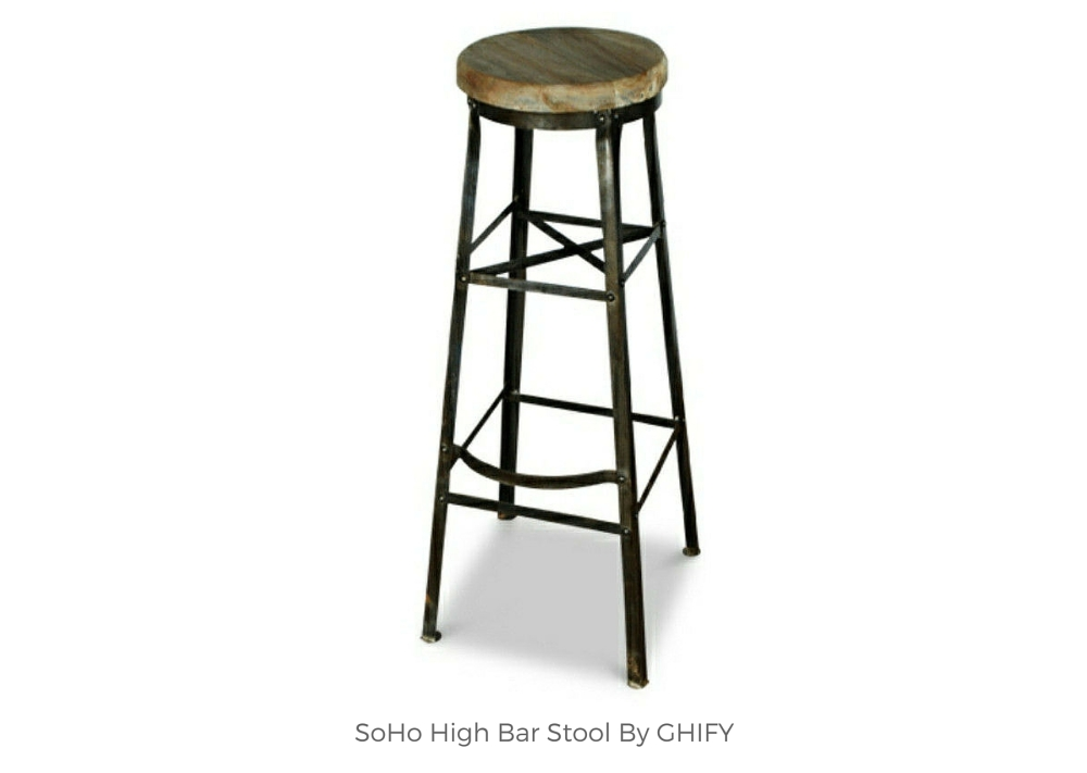 SoHo High Bar Stool by Ghify