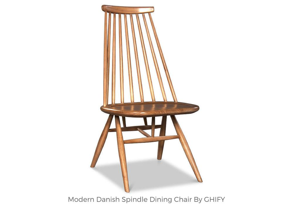 Modern Danish Spindle Dining Chair by Ghify