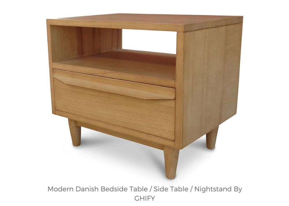 Modern Danish Bedside Tables by Ghify
