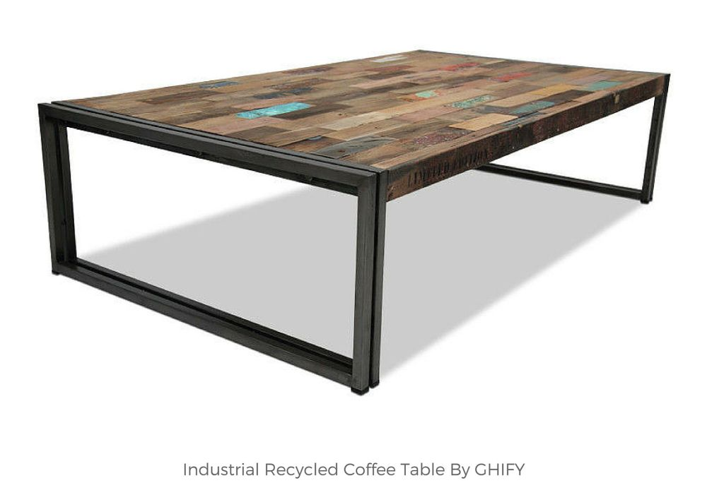 Industrial Recycled Coffee Table by Ghify