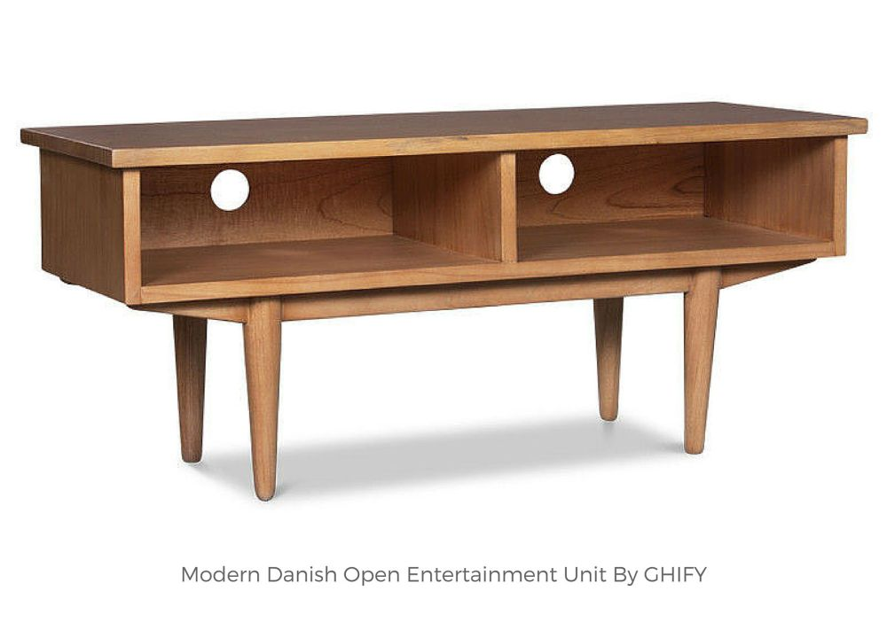 Modern Danish Open Entertainment Unit by Ghify