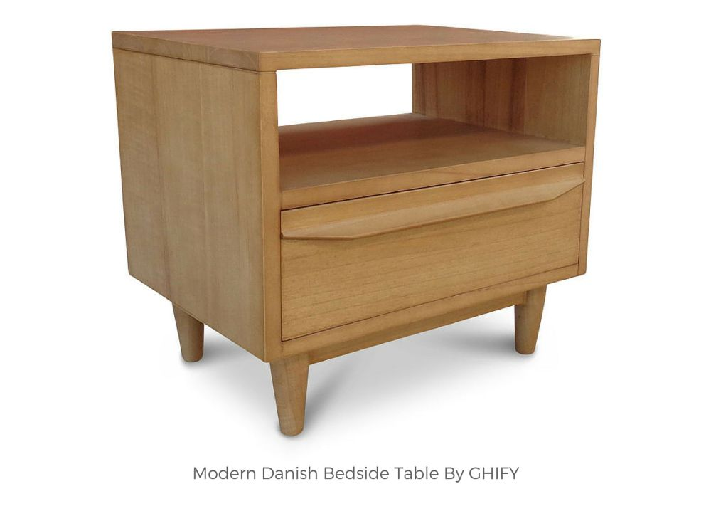 Modern Danish Bedside Table by Ghify