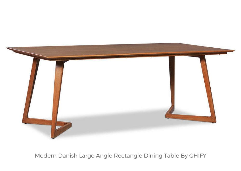 Modern Danish Large Angle Rectangle Dining Table