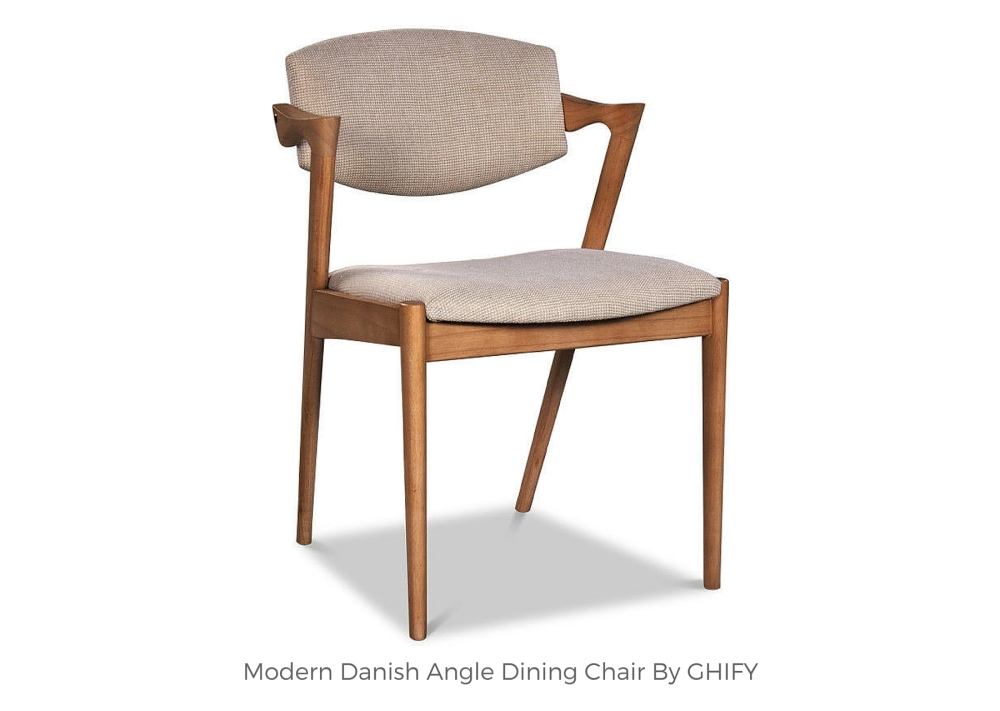 Modern Danish Angle Dining Chair