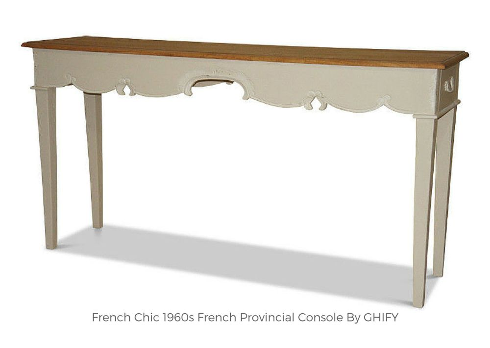 French Chic 1960s French Provincial Console by Ghify