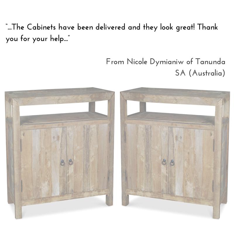 Recycled Teak 2 Door Cabinets
