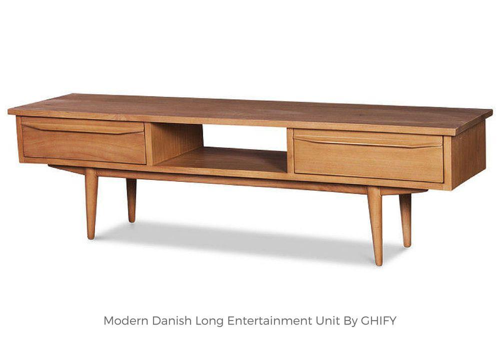 Modern Danish Long Entertainment Unit by Ghify