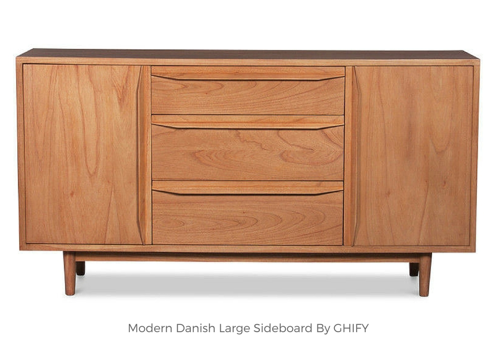 Modern Danish Large Sideboard