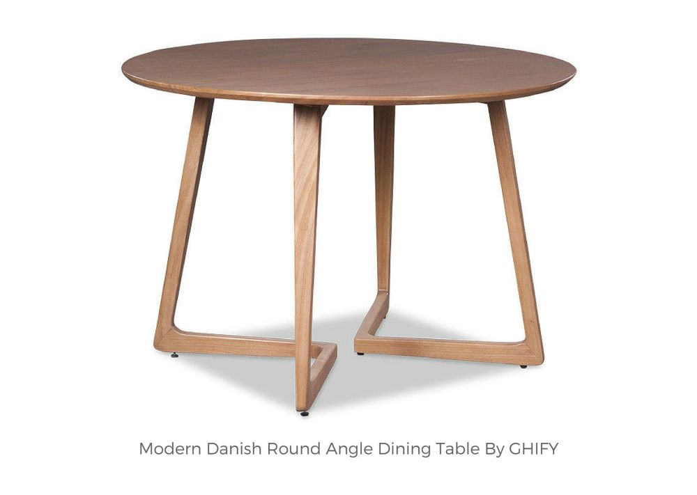 Modern Danish Round Angle Dining Table