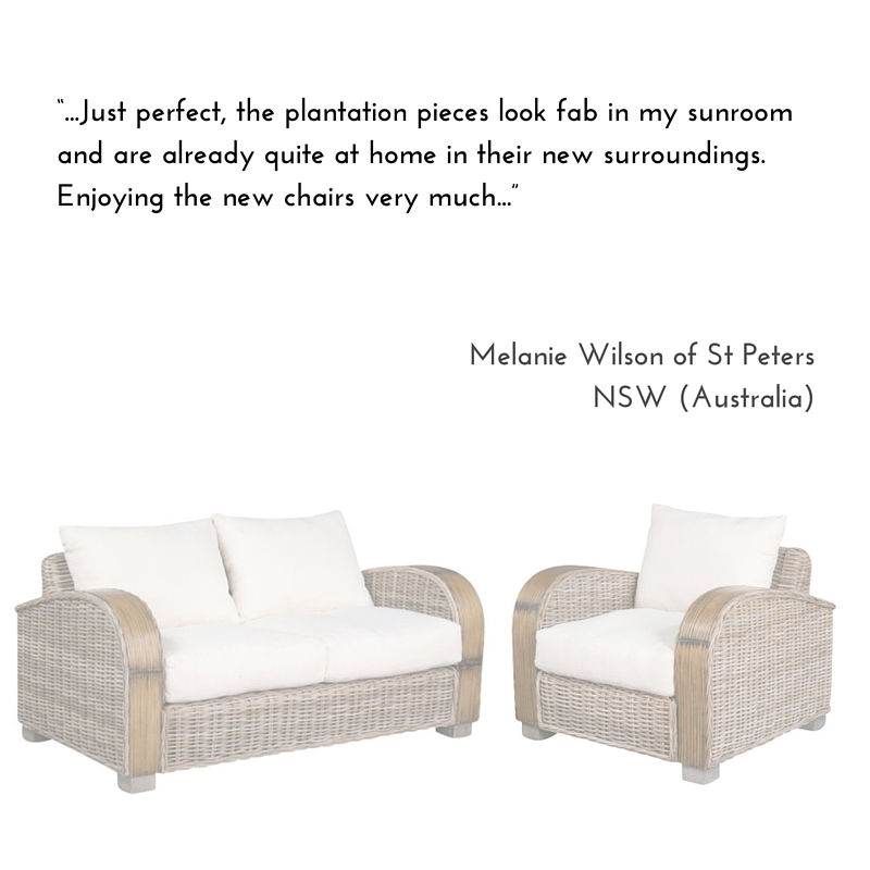 Plantation Home Love Seat & Armchair