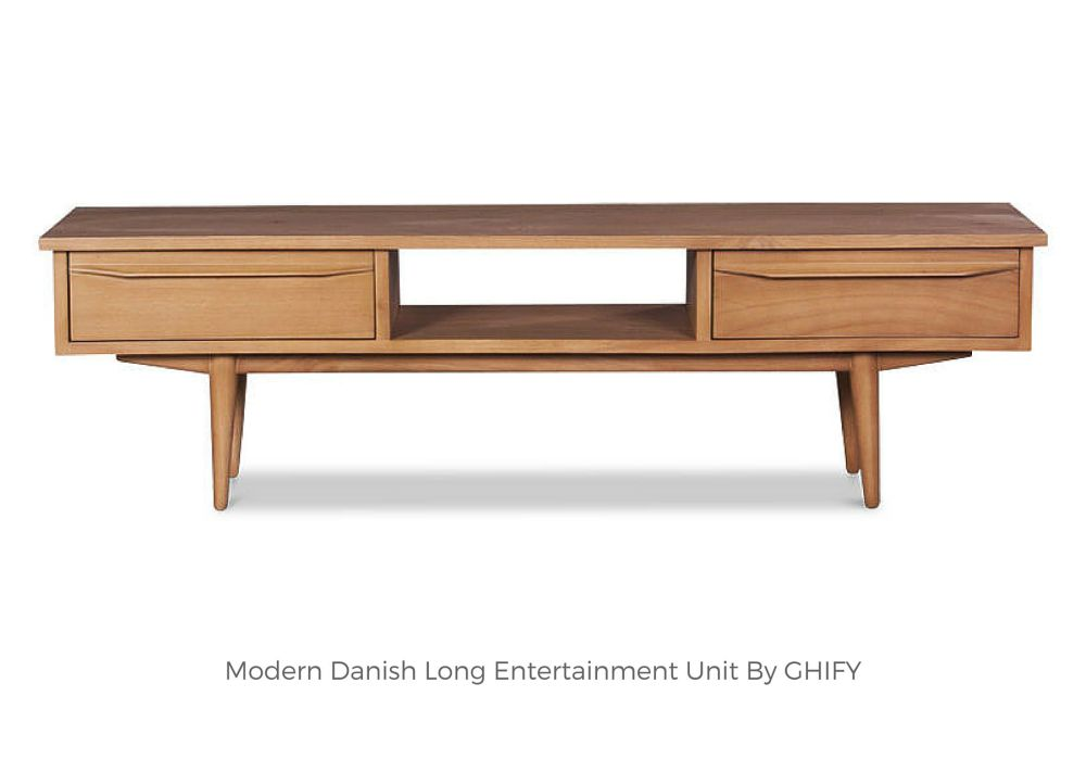 Modern Danish Long Entertainment Unit