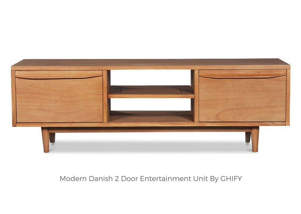 Modern Danish 2 Door Entertainment Unit
