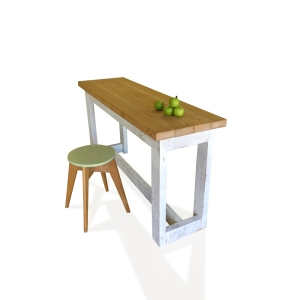 Eco Recycled Eco High Bench Table Made From Recycled Solid Timber