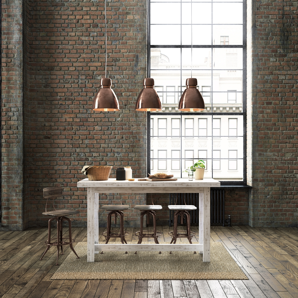 Recycled Timber + Copper = Retro Industrial Loft Style