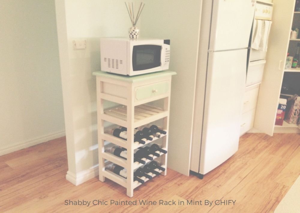 Shabby Chic Painted Wooden Wine Rack in Mint Testimonial by Ghify